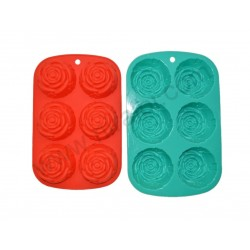 Small Rose Soap Rubber Mould