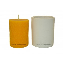 Medium Pentagon In Triangle Shape Pillar Silicone Candle Mould, Buy Online Now