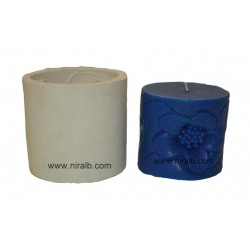 Flower Texture Pillar Silicone Candle Mould - SL584 Niral Industries
