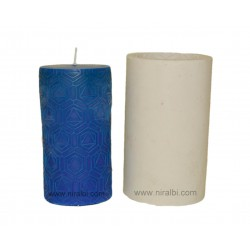 Large Pentagon In Triangle Shape Pillar Silicone Candle Mould - SL541 Niral Industries