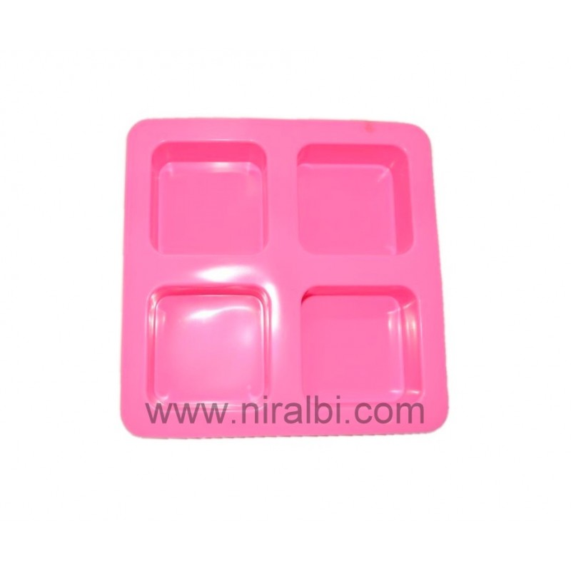 Sqaure Shape Rubber Tray Soap Mould