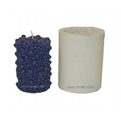 Bubbles Cylinder small Pillar Silicone  Candle Mould - SL545 Niral Industries