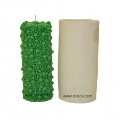 Bubbles Cylinder Large Pillar Silicone  Candle Mould - SL546 Niral Industries