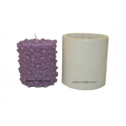 Bubbles Thick Pillar Silicone Candle Mould - SL547 Niral Industries
