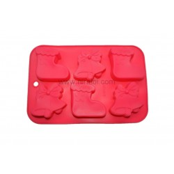 6 Cavity Christmas Socks And Bell Niral Soap Making Mould