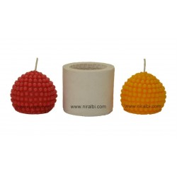 Big Dotted Round Shape Silicone Candle Mould - SL549 Niral Industries
