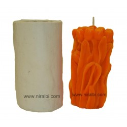 Rose Bud Bouquet Pillar Silicone Candle Mould - SL585 Niral Industries