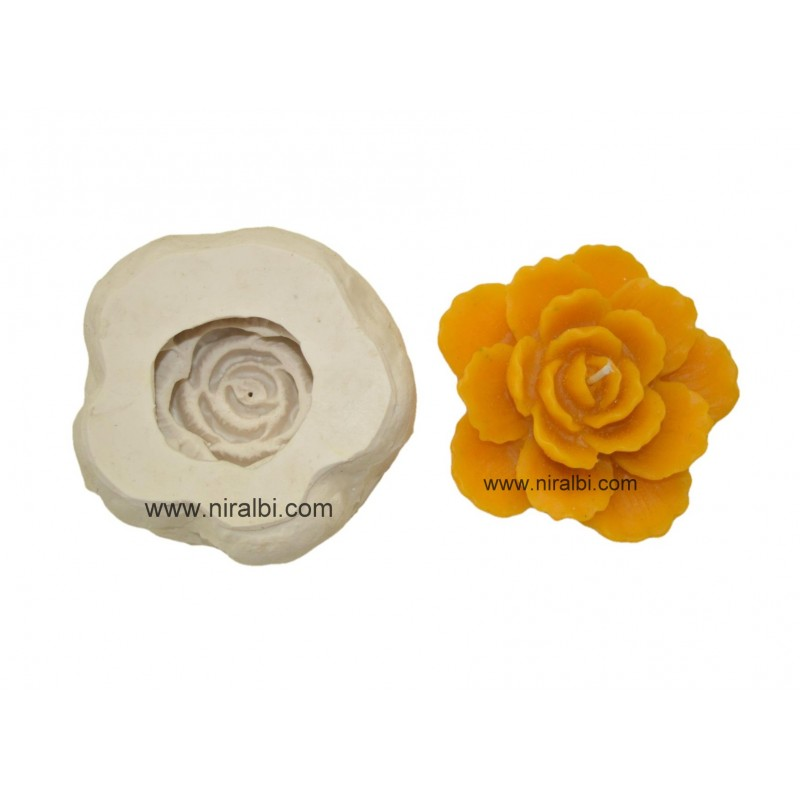 Curve Petals Silicone Candle Mould, Order Online Niral Industries