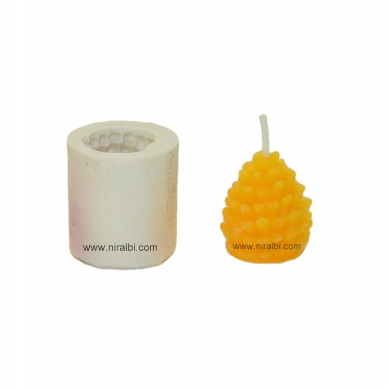 Pine Rubber Candle Mould