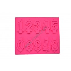 Numerical Rubber Soap And Candle Making Mold