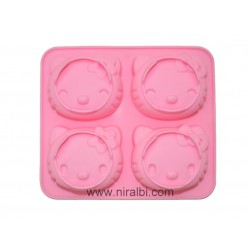 Kitty Face Rubber Soap Making Mold