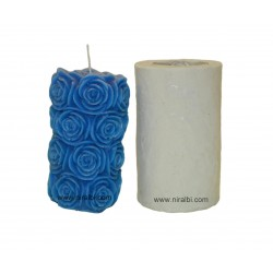 Rose Pillar Silicone Candle Mould - SL595 Niral Industries