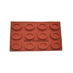 Small Oval 12 Cavities Tray Soap Making Mold