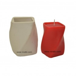 Silicone Rubber Twisted Design Candle Mould