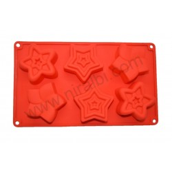 Star Tray Type Rubber Soap Making Mould
