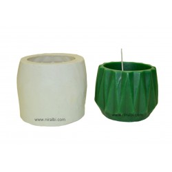 Three Dimensional Triangle Texture Hurricane Candle Mould, Order Online Niral Industries