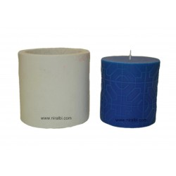 Small Octogon design silicone candle mould