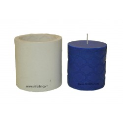 Small Designer Pillar Silicone Candle Mould