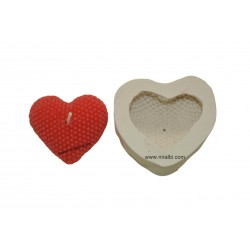 Pearl Heart Shape Silicone Candle Mould