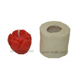 Niral Rose Bud Candle Rubber Molds