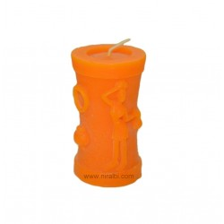 Silicone Rubber Small Warli Painting pillar Candle Mould