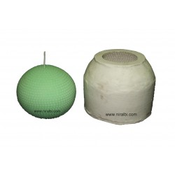 Designer Dotted Boll Rubber Candle Mould