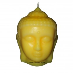 Niral Plain Rubber buddha face candle mould SL463