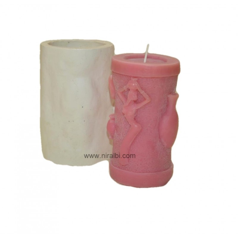 Warli Pillar Candle Mould