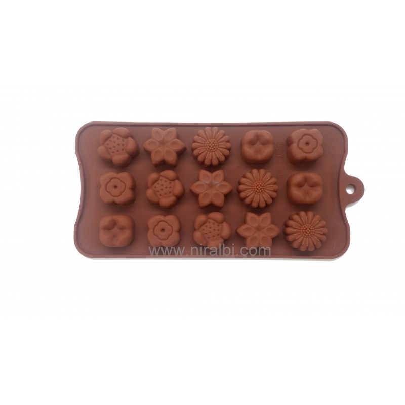 Multi Flower Design Chocolate Mould