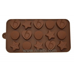 Heart, Star, Round Shape Chocolate Mould