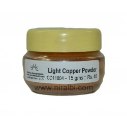 Light Copper Powder Glitter for Hobby, Crafts, Home use.