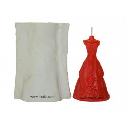 Wedding Gown/Dress Silicone Candle Mould - Niral Industries