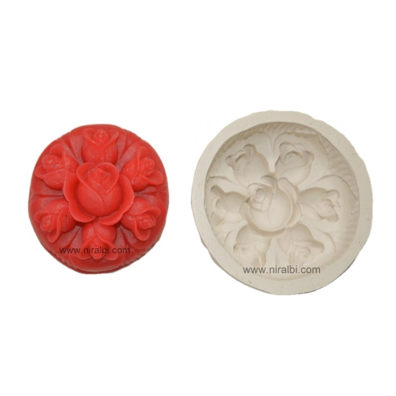 Rose Flower Silicone Soap Mould