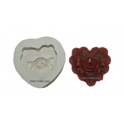 Heart Shape Rose Flower Silicone Candle Mould