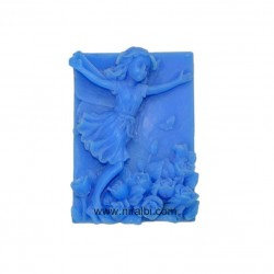 Rubber Happy Girl Soap Mould