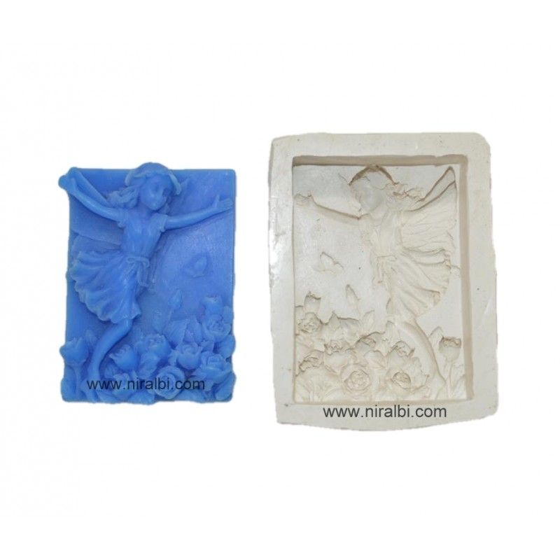 Happy Girl Silicone Soap Mould