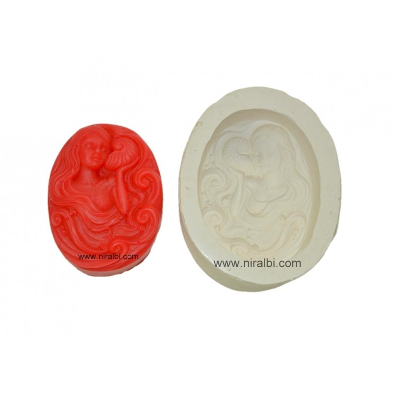 Cute Mermaid Silicone Soap Mould