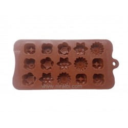 Multi Flower Design Chocolate Mould,