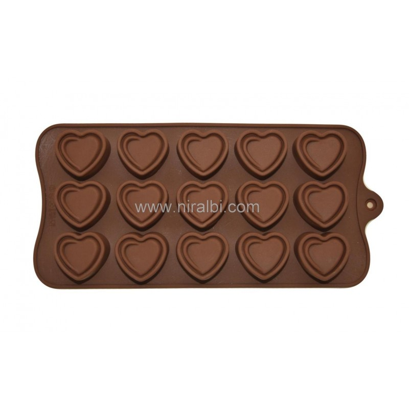 Niral Double Heart Chocolate Making Mould