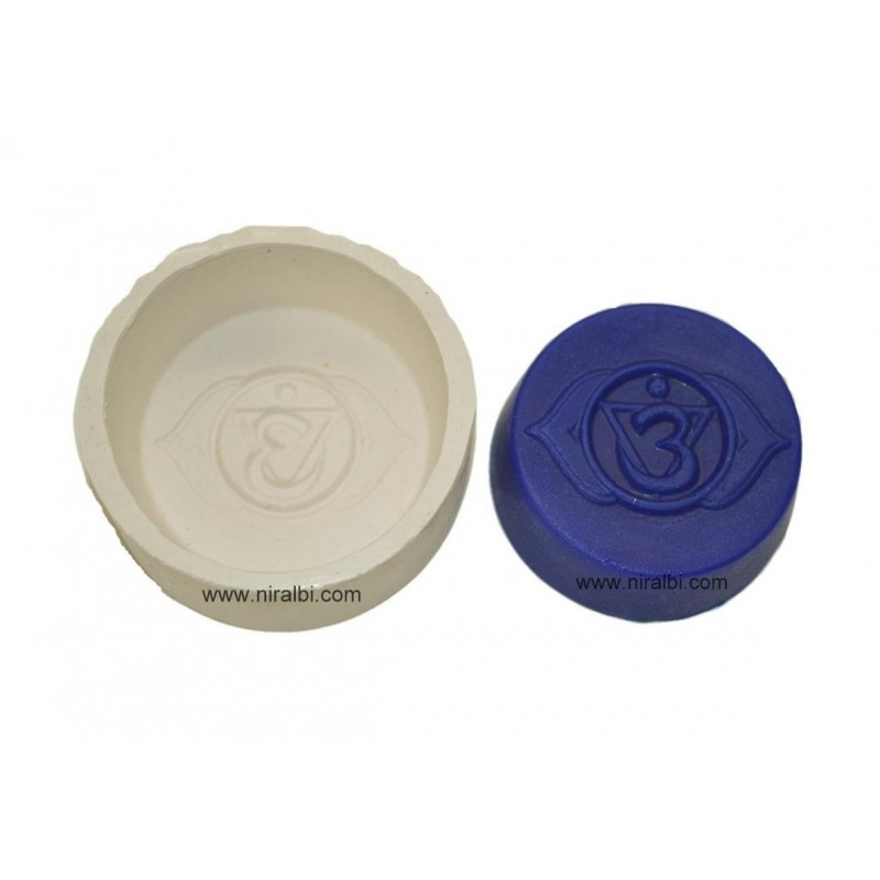 Ajna 3rd Eye Chakars Silicone Soap Making Mold