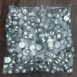 Niral Silver T Light Containers (1000 pcs) 35 x 10