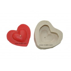 Loved Symbol Heart Shape Silicone Candle Mould