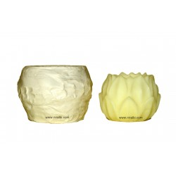 Niral Industries, Extra Large Lotus Designer Candle Mould, Wt - 355 gm