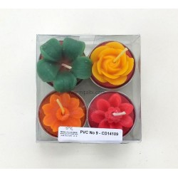 Niral Rose Flower Cum T Light Silicone Rubber Candle Mould