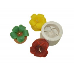 Lily Flower With Base Candle Mould
