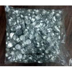 Silver T Cups Containers (1000 pcs) 37 x 12