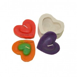 Double Heart for Loved ones, Niral Candle, Soap, Craft, Hobby Mold