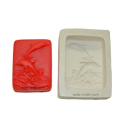 Dolphine Rubber Soap Mould