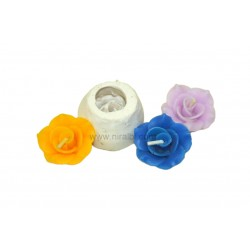 Niral Floating, Rose Designer Flower Candle Mold, Dia - 3.5 cm