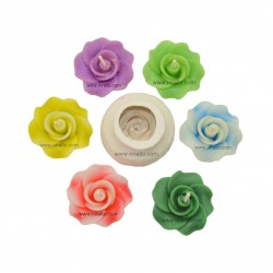 Niral Rubber Rose Flower, Silicone Candle Mould, Candle Wt - 15 gm